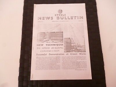 STEELS NEWS BULLETIN STEEL & Co SUNDERLAND COLES CRANE JANUARY 1954 *AS PICTURES