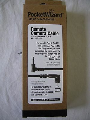"Pocket Wizard 802-504 S-RMS1AM-ACC-1 Sony Camera Cable ""NEW"""