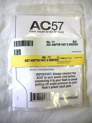 "Pocket Wizard 804-711 AC57 Adapter for AC7 & Canon 580EX & EX2 ""NEW"""