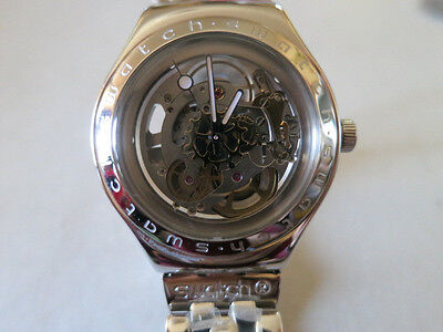 Authentic Swiss Swatch Automatic Irony Body and Soul  Watch YAS100G - Used