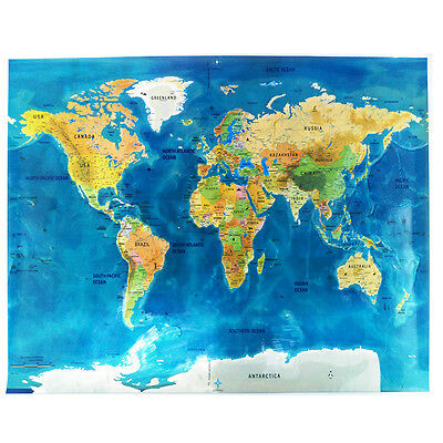 World Scratch Off Map Blue Ocean Personalized Deluxe Travel Edition Xmas gift