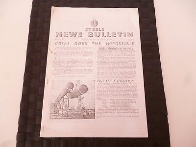STEELS NEWS BULLETIN STEEL & Co SUNDERLAND COLES CRANES JULY 1956 *AS PICTURES*