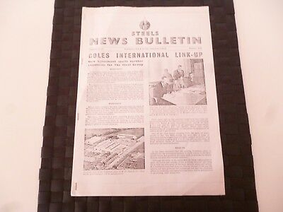 STEELS NEWS BULLETIN STEEL & Co SUNDERLAND COLES CRANE FEBRUARY 1957 AS PICTURES