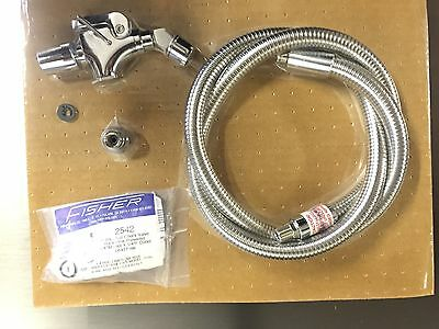 New Fisher 98582 Glass Filler with Hose Assembly, back flow, deck mount frange
