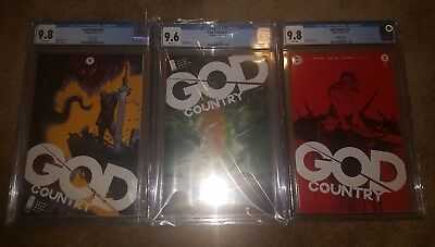 God country #1 covers A,b and 2nd print cgc 9.6 - 9.8