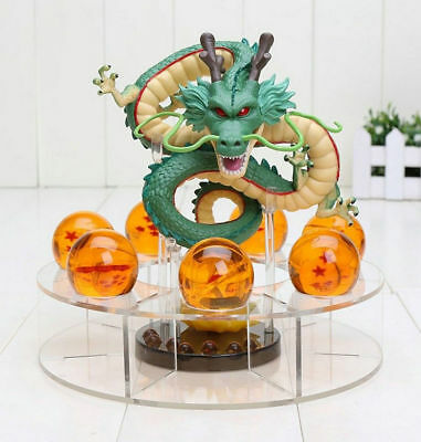 Hot Anime Dragon Ball Z Shenron Figurine + 7 Crystal Balls Otaku Collection Gift