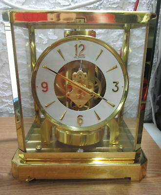 Vintage 1960s Jaeger LaCoultre & Cie Atmos 528-6 Swiss Clock, Working!