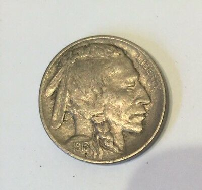 1913 Type 2 Buffalo Nickel Unc? Full Horn And Tail