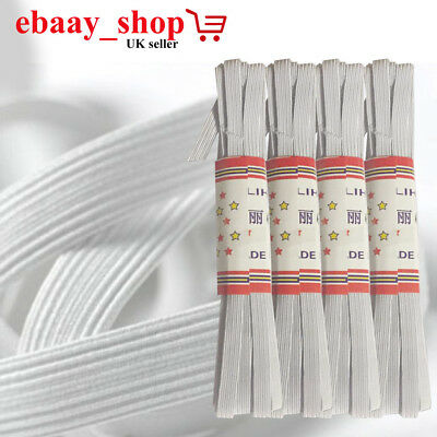 New Flat Woven Corded Elastic White/Blck For Waistbands Cuffs Sewing Dressmaking