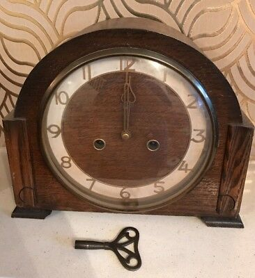 Art Deco Mantle Clock - Smith Enfield- Needs Repair Or Useful For Spare Parts