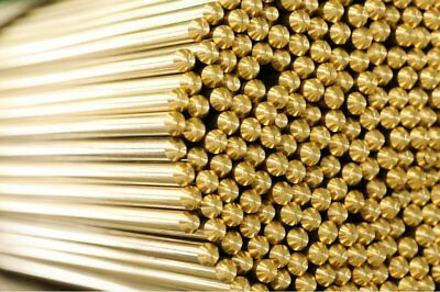 Brass Round Bar Rod Many sizes and lengths  Bras Metal Strip Section