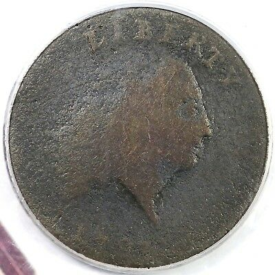 """1793 s-3 R3 PCGS G4 """"AMERICA"""" Chain Cent Coin 1c"""