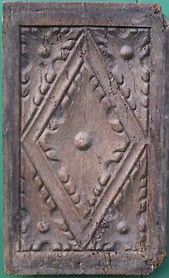 INTERESTING 16th / 17th CENTURY CARVED OAK GOTHIC PANEL, Medieval carving