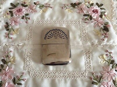 ANTIQUE SILVER PLATED COUNTRY GENTLEMAN's HAND WARMER ~ ENGLAND TRADE MARK 🍂