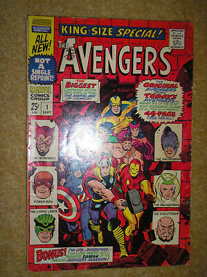 AVENGERS KING-SIZE SPECAL # 1 ENCHANTRESS HECK 25c 1967 SILVER AGE MARVEL COMIC