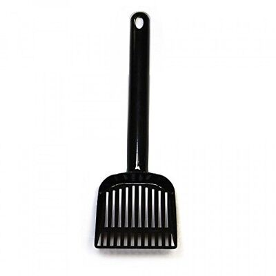 Pet Champion Large Steel Cat Litter Scoop with 10 inch Handle, Black