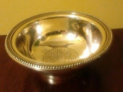 ANTIQUE SHEFFIELD SILVER PLATE WINE STRAINER 2 ozt LOVELY QUALITY WINE STRAINER