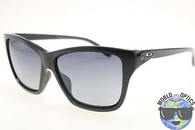 Oakley Women's Sunglasses OO9298-06 HOLD ON Polished Black/Grey Polarized Lens