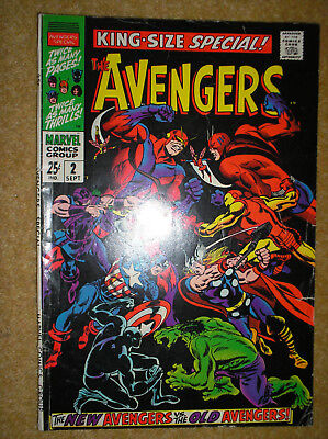 AVENGERS KING-SIZE SPECIAL # 2 NEW VS OLD TEAM 25c 1968 SILVER AGE MARVEL COMIC
