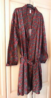 "Bhs Retro Mens Paisley Bathrobe Size 44""-46"""