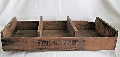Vintage Musselman-Dwan Division PET MILK Co. Divided Wood Advertising CRATE