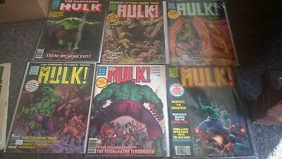 Rampaging Hulk 8 Issue Lot Marvel Comics 1970S Bronze Age  Early Moon Knight