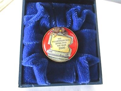 Millennium Bug Halcyon Days English Enamel Box New Condition with Box -England