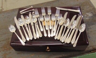 Laurier Sterling Silver by Northumbria 26pc in Original Chest & Box