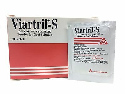 Viartril-S Glucosamine Powder 30 Sachets, Relieve Joint Pain, Recover Supplement