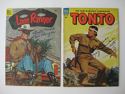 LONE RANGER & TONTO - Rare AUTOGRAPHED COMICS - SIGNED BY SILVERHEELS & MOORE