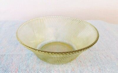 Amber Diana Pattern 9 inch Salad Bowl made by Federal Glass