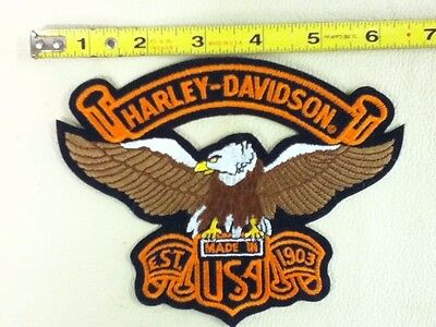 Vintage Officially Licensed Harley Davidson Eagle With Banner Usa