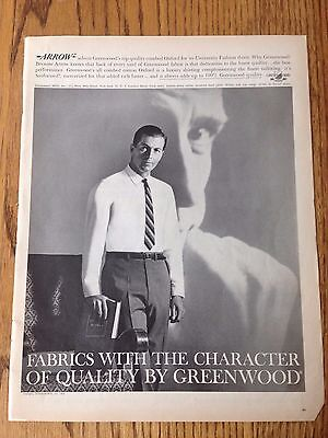 "1962 Arrow Shirts, Life Magazine Print Ad 10.5""x14"""