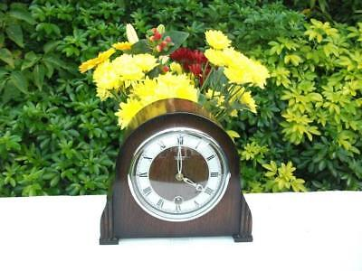 Smiths Petite 8 Day Timepiece (Time Only) Mantel Clock. 1952. Fully Overhauled.