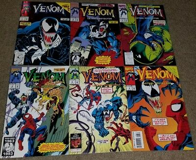 Marvel Comic Venom Lethal Protector 1 2 3 4 5 6 key key book Set Spider-man 3/93