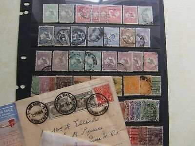 Australia Collection Of Early Stamps Heads And Roos To 10 Shillings.