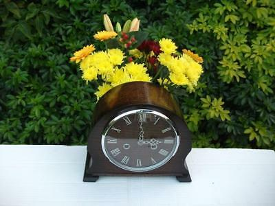 Stunning Smiths Oak Case 8 Day Striking Mantel Clock. 1954. Fully Overhauled.