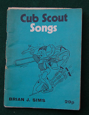 Cub Scout Songs Book - Brian J. Sims - Vintage - UK 70s - Boys Girls Club