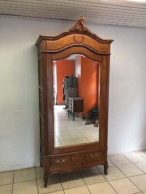 Wardrobe 1 door Oak Louis XV,French style,Delivery possible, see description