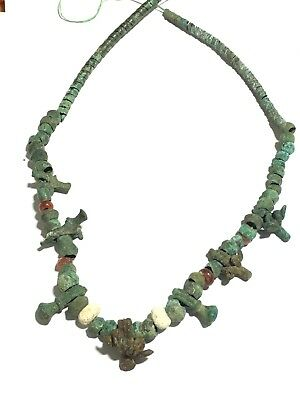 Beautiful ancient necklace with heads of sheep