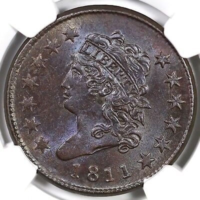 1811 s-287 R2 NGC MS62BN Classic Head Large Cent Coin 1c