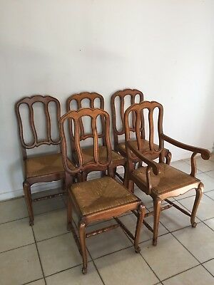 5  chair louis XV,French style,Delivery possible, see description