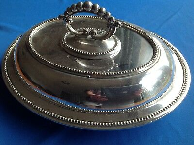 Vintage Or Antique Silver Plated Serving Dish With Lid
