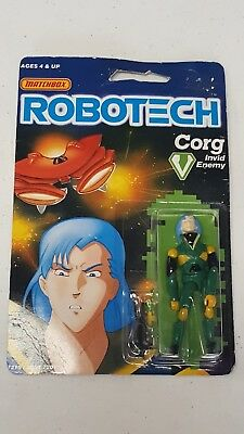 "Robotech Action Figure, Corg 3.75"" Invid Enemy (Matchbox,1985) in box"