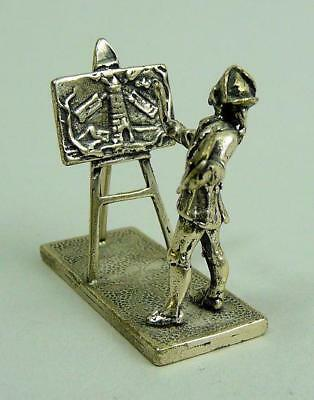 Antique Dutch 800 Silver Miniature Artists Figure C.1920