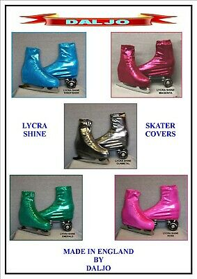Ice Skating / Roller Skating Metallic Shine Lycra Boot Covers  10 Colours  S1/2