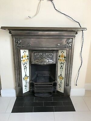 Victorian edwardian cast iron combination fireplace Victorian fireplace restoration