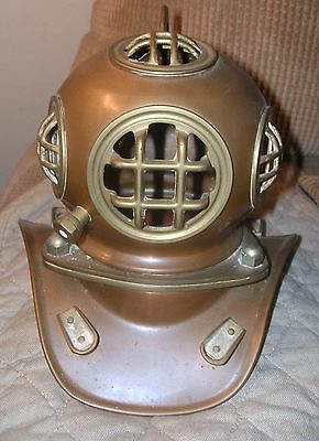 "8"" Old VINTAGE Antique Brass Copper Divers Helmet"