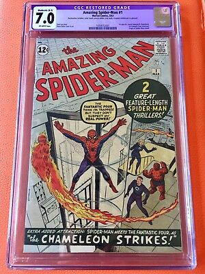 Amazing Spider-Man #1 CGC 7.0 Silver Age March 1963 Key Grail Comic Classic!