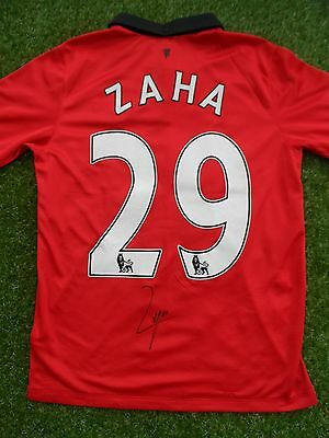 Wilfried Zaha #29 Hand Signed Name & Number Manchester United Home Shirt - COA